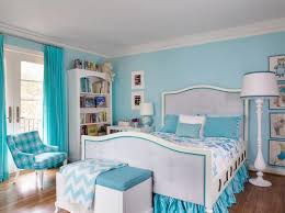 nice soft blue and white color in combination kids bedroom