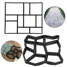 Stepping Stone Molds Uk by Amazon Com Go2buy 10 Grid Garden Patio Black Pathmate Stone