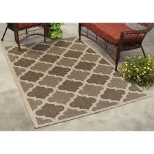 Modern Indoor Outdoor Rugs Mainstays Trellis Indoor Outdoor Rug Walmart