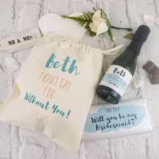 bridesmaid gift bag you be my bridesmaid gift bag choc and label