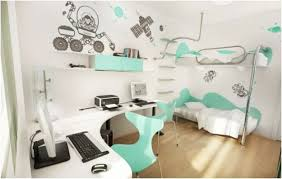 Modern White Computer Desk Cute Bedrooms Design Ideas 1733