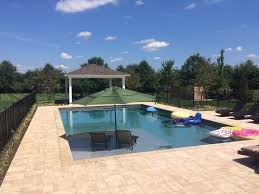 classic pool and fire pit field of dreams