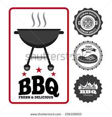 Backyard Bbq Party Menu Backyard Bbq Grilling Party Stamps Stock Vector 105180785