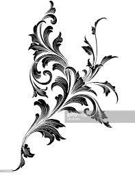 black ornamental scroll growth vector getty images