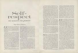 Example Of A Memoir Essay On Self Respect Joan Didion U0027s 1961 Essay From The Pages Of Vogue