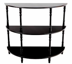 small half moon console table with drawer furniture small half moon console table with drawer drawers black