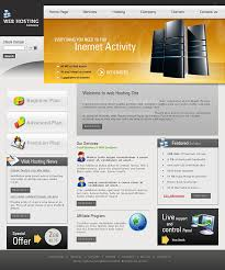 cheap website template for hosting service providers