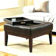 Ottomans With Trays Fantastic Coffee Table Ottoman With Storage Taptotrip Me