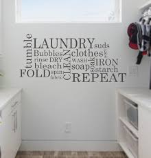 Wall Decor For Laundry Room by Laundry Wall Decal Subway Laundry Room Decor Vinyl Wall Art