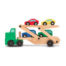 car carrier truck melissa u0026 doug car carrier truck u0026 cars wooden toy set