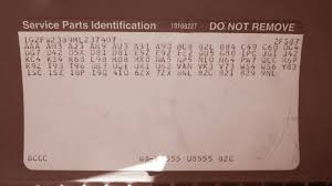 members post your rpo codes page 2 third generation f body