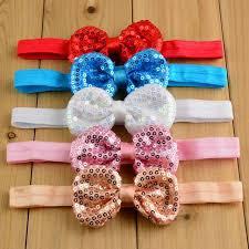 stretchy headbands handmade sequin glitter bow top knot headbands diy baby stretchy