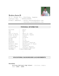 Resume Personal Background Sample by Reference Resume Sample Resume Sample References References On