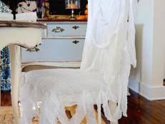 How To Make Dining Room Chair Slipcovers How To Sew Chair Covers Hgtv