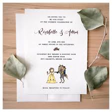 and the beast wedding invitations enchanted wedding invitation set and the beast wedding