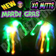 Light Up Gloves Mardi Gras Flashing Led Light Up Xo Mitts Green Blue Orange Leds
