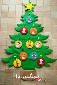 árvore de natal em feltro natal craft and christmas fun