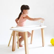 White Children Desk by Mum And Dad Factory Kids Desk White U2013 Growing Footprints