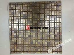 metal mosaic kitchen wall tile backsplash smmt069 brass copper