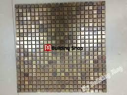Stainless Steel Mosaic Tile Backsplash by Metal Mosaic Kitchen Wall Tile Backsplash Smmt069 Brass Copper