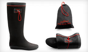 Rainboots Folding Wellington Boots Redfoot Foldable Rain Boots Groupon