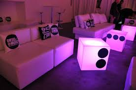 Ottoman Kid Cudi Room Service Furniture And Event Rentals Provided The White