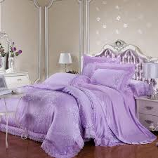 Personalized Girls Bedding by Lilac And Silver Snowflakes Pattern Victorian Rose Elegant