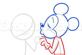 draw minnie mickey kissing step step disney