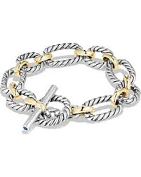 metal chain link bracelet images Slash prices on david yurman cushion chain link bracelet with blue