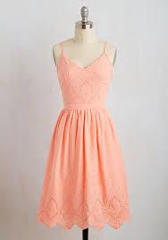 courteous curtsy dress orange solid casual sundress pastel