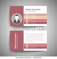 Simple Business Cards Templates Modern Simple Business Card Template Vector Stock Vector 246376387