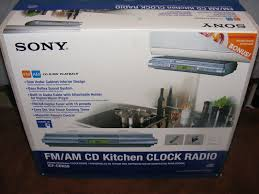 kitchen under cabinet radio cd player cabinet sony under cabinet kitchen cd clock radio sony under