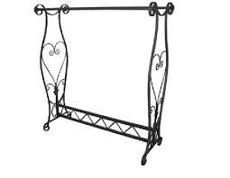 Elegant decorative Boutique double H bar clothes & garment rack