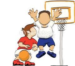basketball clipart images deux gar礑ons jouant au basketball clipart vectoriel thinkstock
