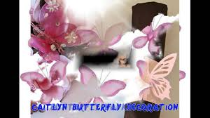Purple Butterfly Decorations Butterfly Decorations Youtube
