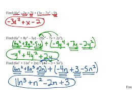 algebra 8 1 adding and subtracting polynomials math algebra