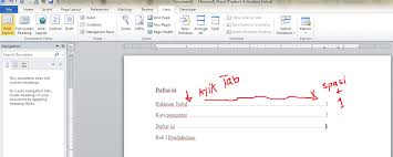 cara membuat garis pada daftar isi makalah cara membuat daftar isi manual dan otomatis pada ms word lengkap