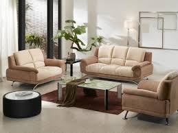 beige u0026 cream two tone microfiber 3pc modern living room set
