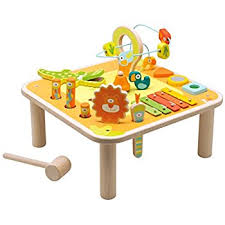 wooden activity table for trudi 82943 37 x 29 x 37 cm sevi multi activity table amazon co uk