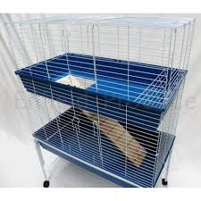 bono fido double storey metal rabbit hutch for sale online or