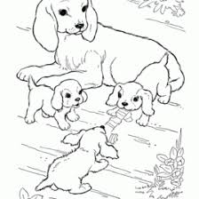 realistic dog coloring pages labrador with puppies coloring page