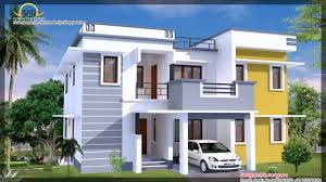 modern home design examples single story modern house plans in kerala youtube