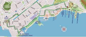 Map Of Waikiki Kaka U0027ako And Iolani Palace Bike Ride Map