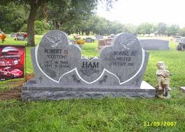 Flat Headstones With Vase Double Heart With A Vase In The Center Headstones Memorials
