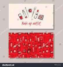 makeup artist business card vector template stock vector 416925970