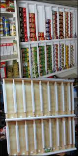how to build a rotating canned food system http