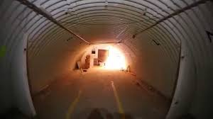 inside an abandoned bomb shelter bunker at the abandoned boron