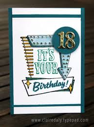 stampin up marquee messages 2016 masculine birthday card for an