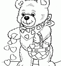 Teddy Bear Crafts For Kids Teddy Bear Coloring Page Free Printable Pages Cartoons Sheets