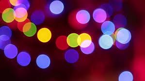 defocused bokeh disco celebration lights stock footage